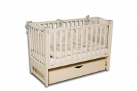 Кроватка детская ЛД 7 маятник+шухляда
