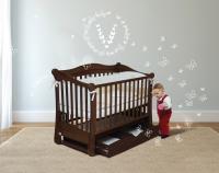 Кроватка детская ЛД 18 (маятник+ящик)