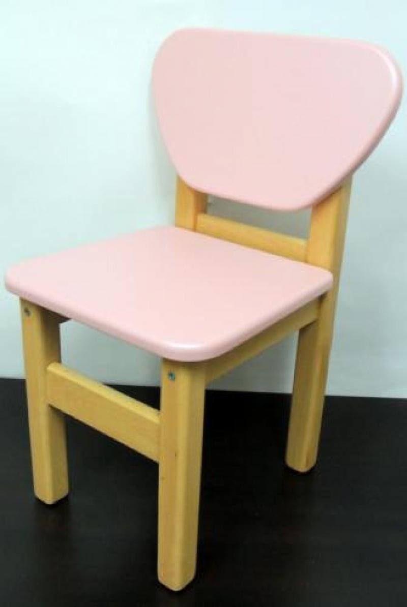 Стульчик дерево/пленка МДФ, розовый