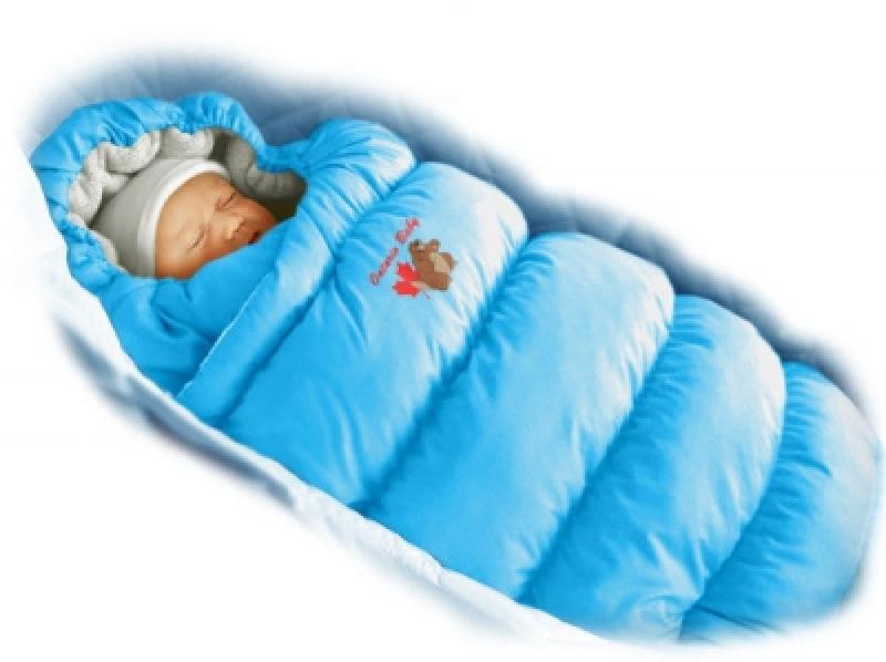 Конверт-пуховик Ontario Baby Inflated (дутик 50х90) светло-голубой