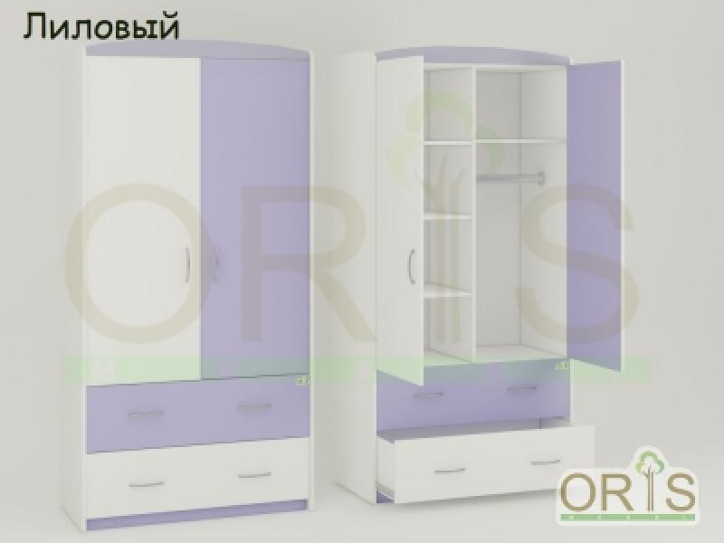 Шкаф ORIS (бело-лиловый)