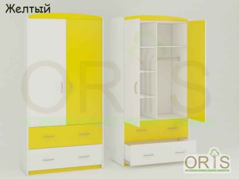 Шкаф ORIS (бело-желтый)