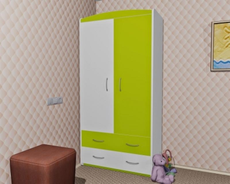 Шкаф ORIS (бело-зеленый)