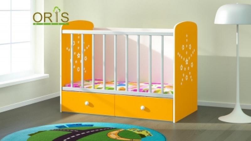 Кроватка детская трансформер  ORIS MAYA (бело-желтый)