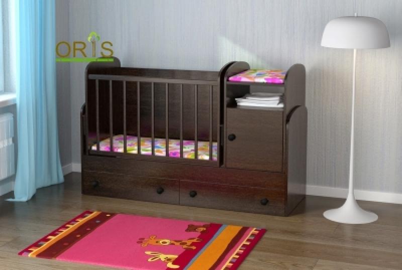 Кроватка детская трансформер ORIS MARIKA (сосна лоредотемный)