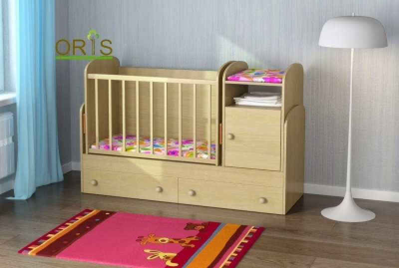 Кроватка детская трансформер ORIS MARIKA (береза полярная)