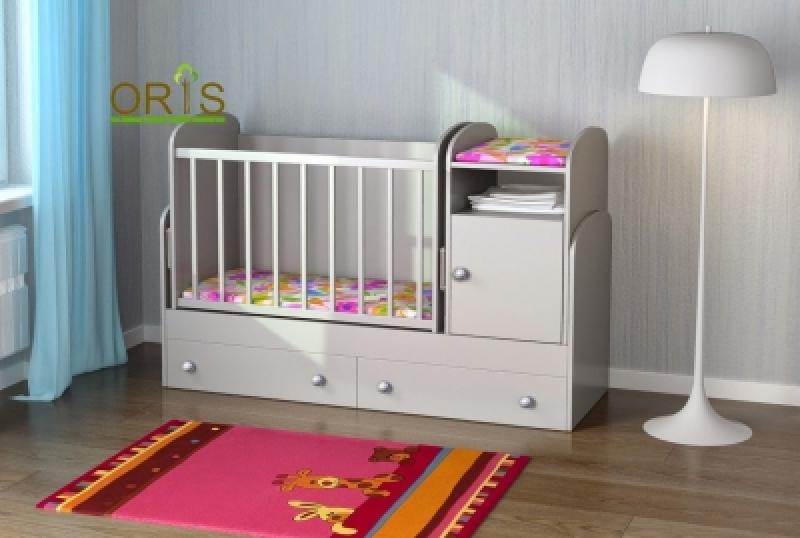 Кроватка детская трансформер ORIS MARIKA (белый)
