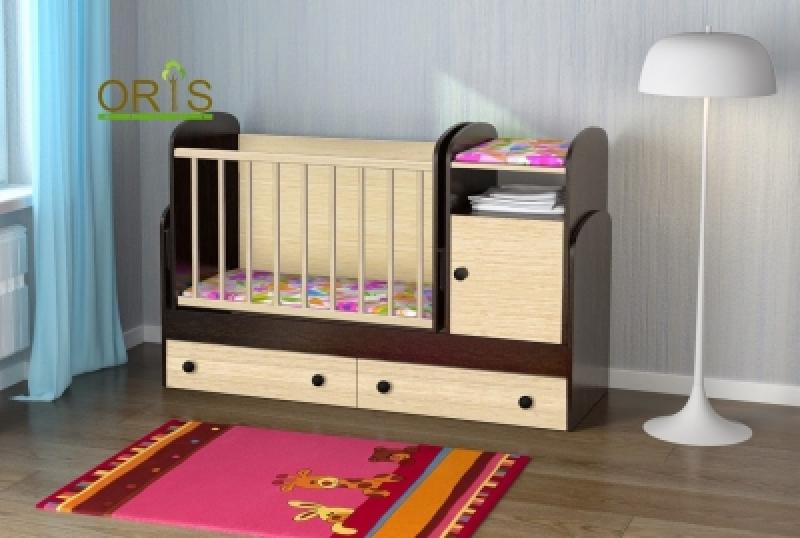 Кроватка детская трансформер ORIS MARIKA (комбинированый)