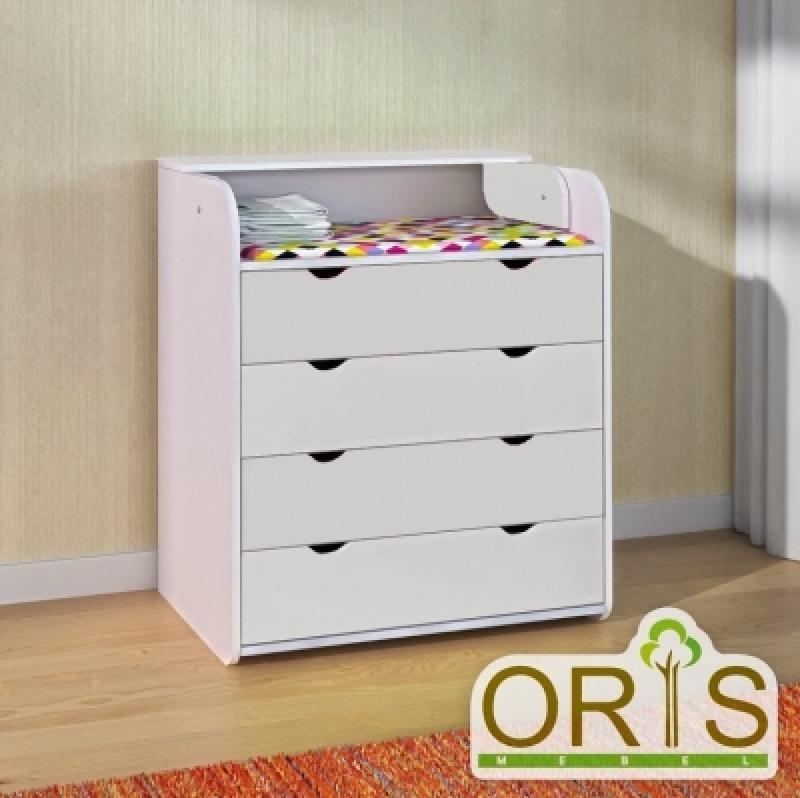 Комод-пеленатор ORIS (белый)