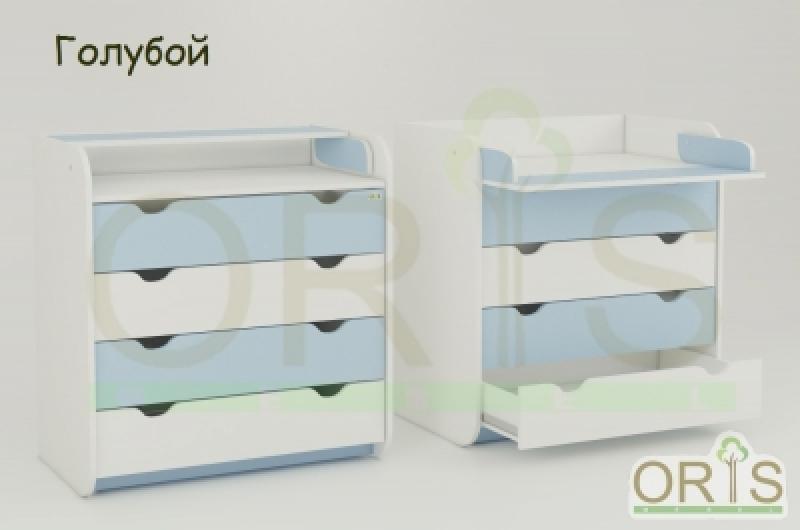 Комод-пеленатор ORIS (бело-голубой)