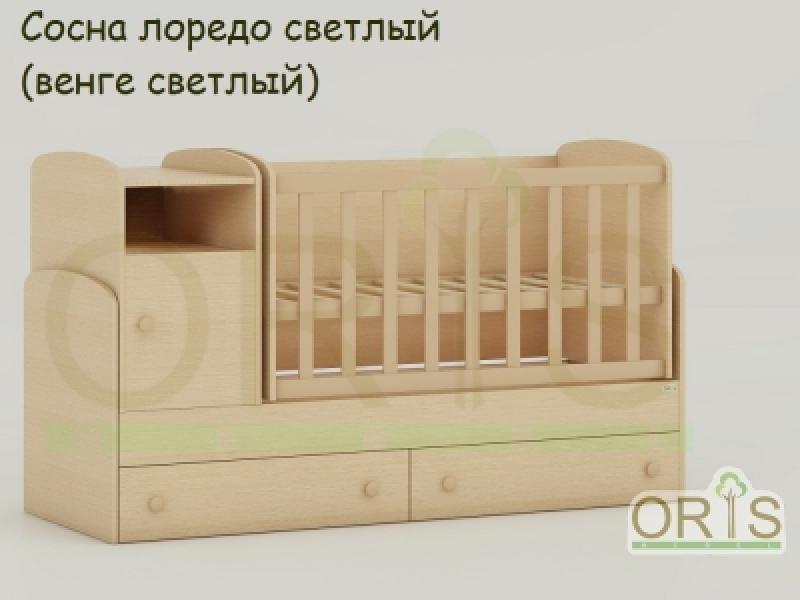 Кроватка детская трансформер ORIS MARIKA (сосна лоредо светлый)