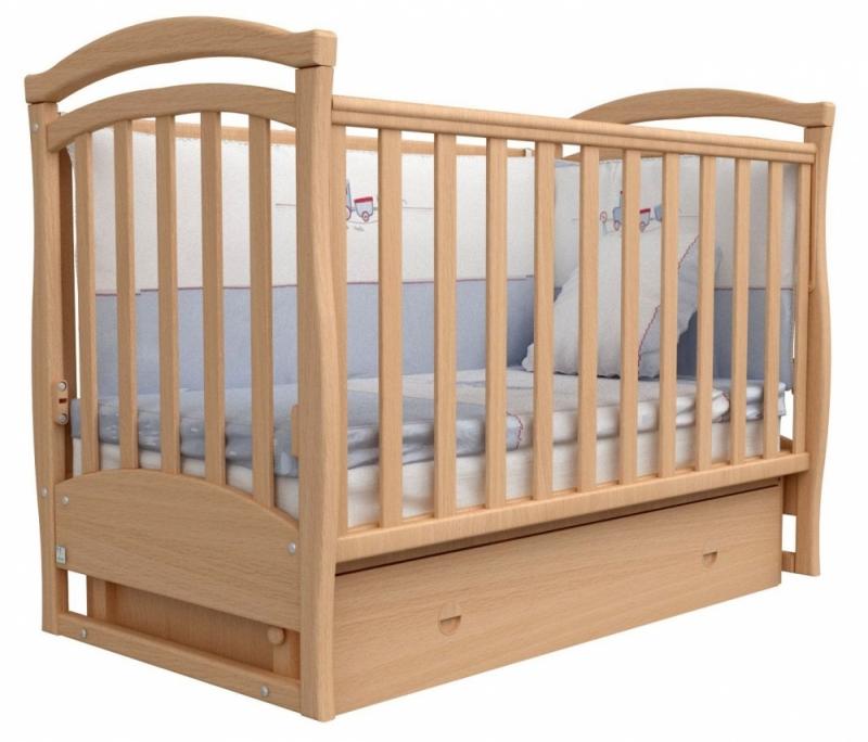 Кроватка детская ЛД 6, бук