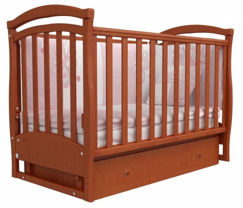 Кроватка детская ЛД 6, ольха