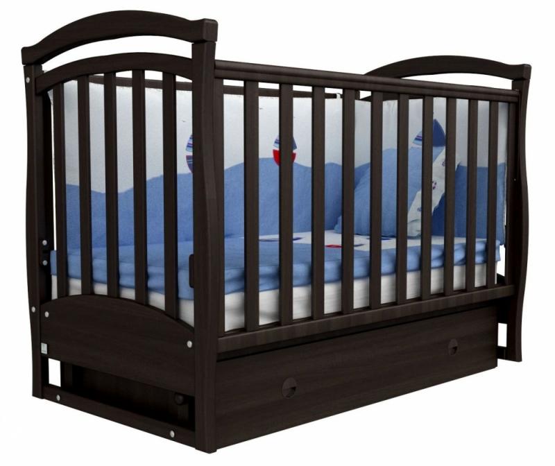 Кроватка детская ЛД 6, орех