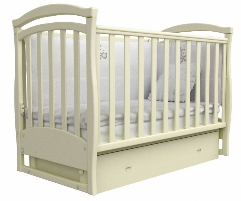 Кроватка детская ЛД 6, слоновая кость