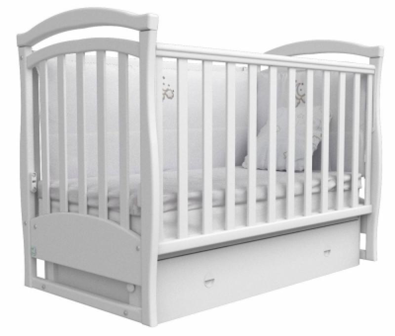 Кроватка детская ЛД 6, белый