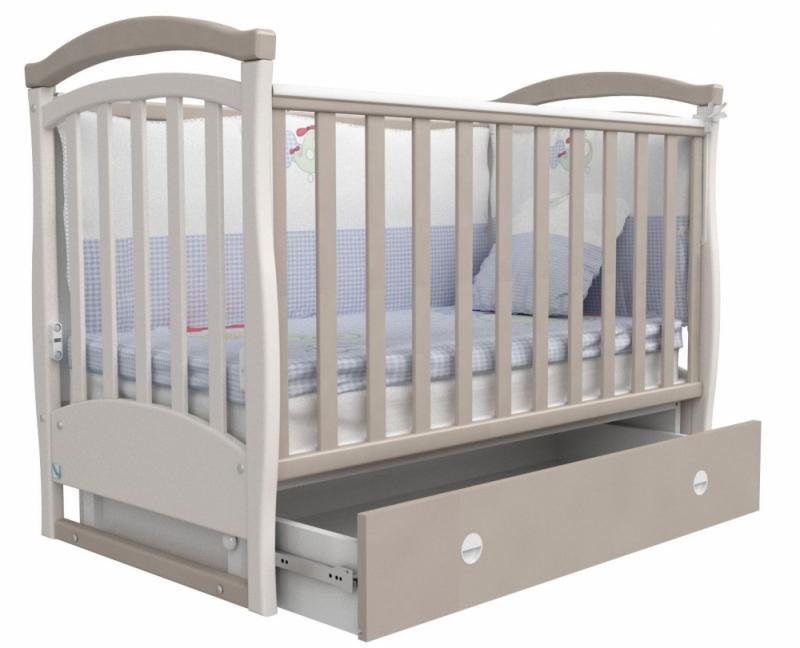 Кроватка детская ЛД 6, капучино
