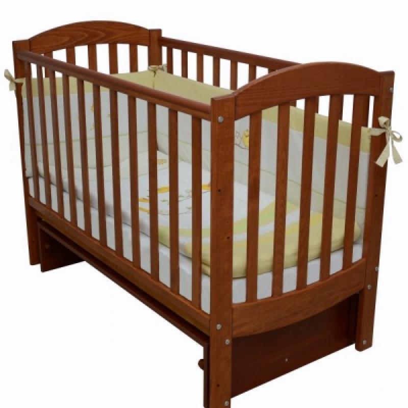 Кроватка детская ЛД 10 (маятник без ящика), ольха