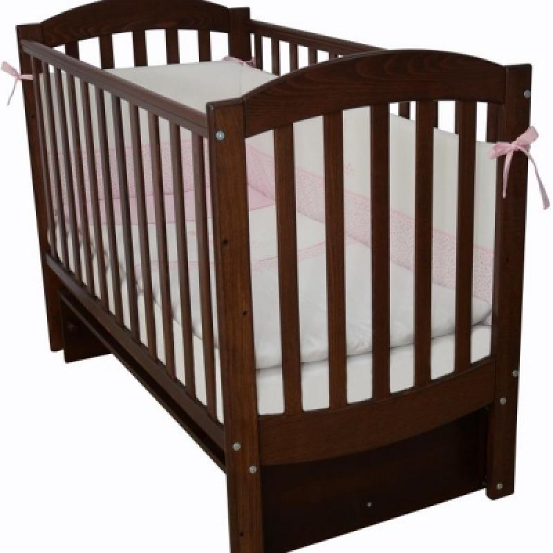 Кроватка детская ЛД 10, орех