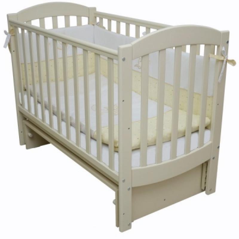 Кроватка детская ЛД 10 (маятник без ящика), слоновая кость