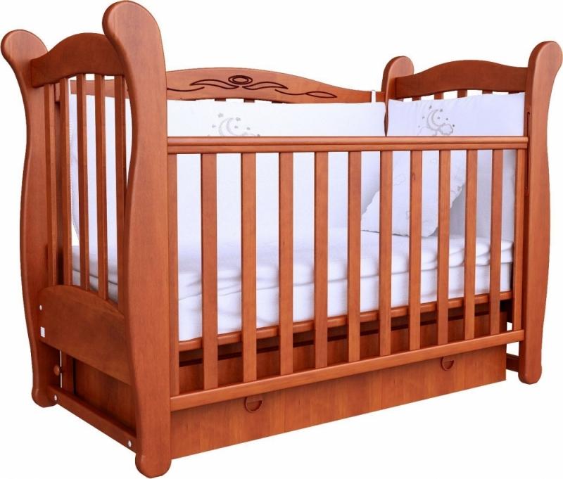 Кроватка детская ЛД 15 (маятник+ящик), ольха