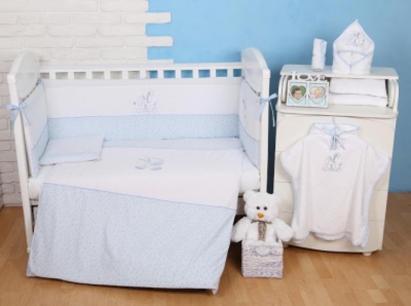 """Сменная постель  Veres (110\145)""""Happy Bunny blue"""" (3од.)"""