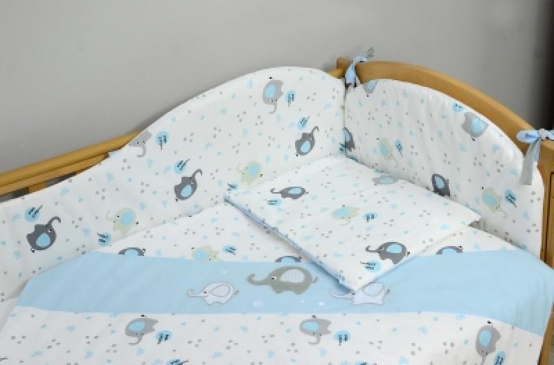 """Сменная постель Veres """"Elephant blue"""" (3 ед)"""