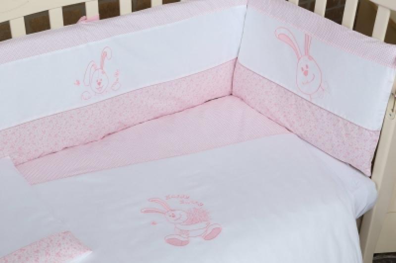 """Постельный комплект  Veres""""Happy Bunny pink"""" (6 ед.)"""