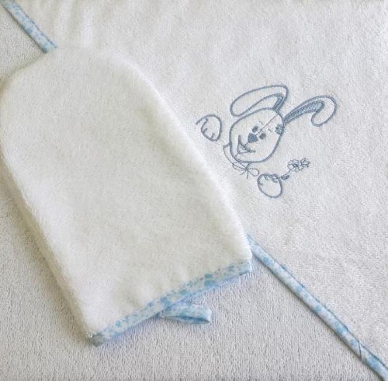 """Пеленка для купания Veres """"Happy Bunny blue"""""""