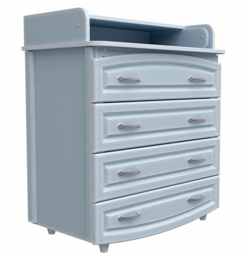 Комод-пеленатор 900х900х510 (ДСП) - патина голубая лазурь (фильончастый)