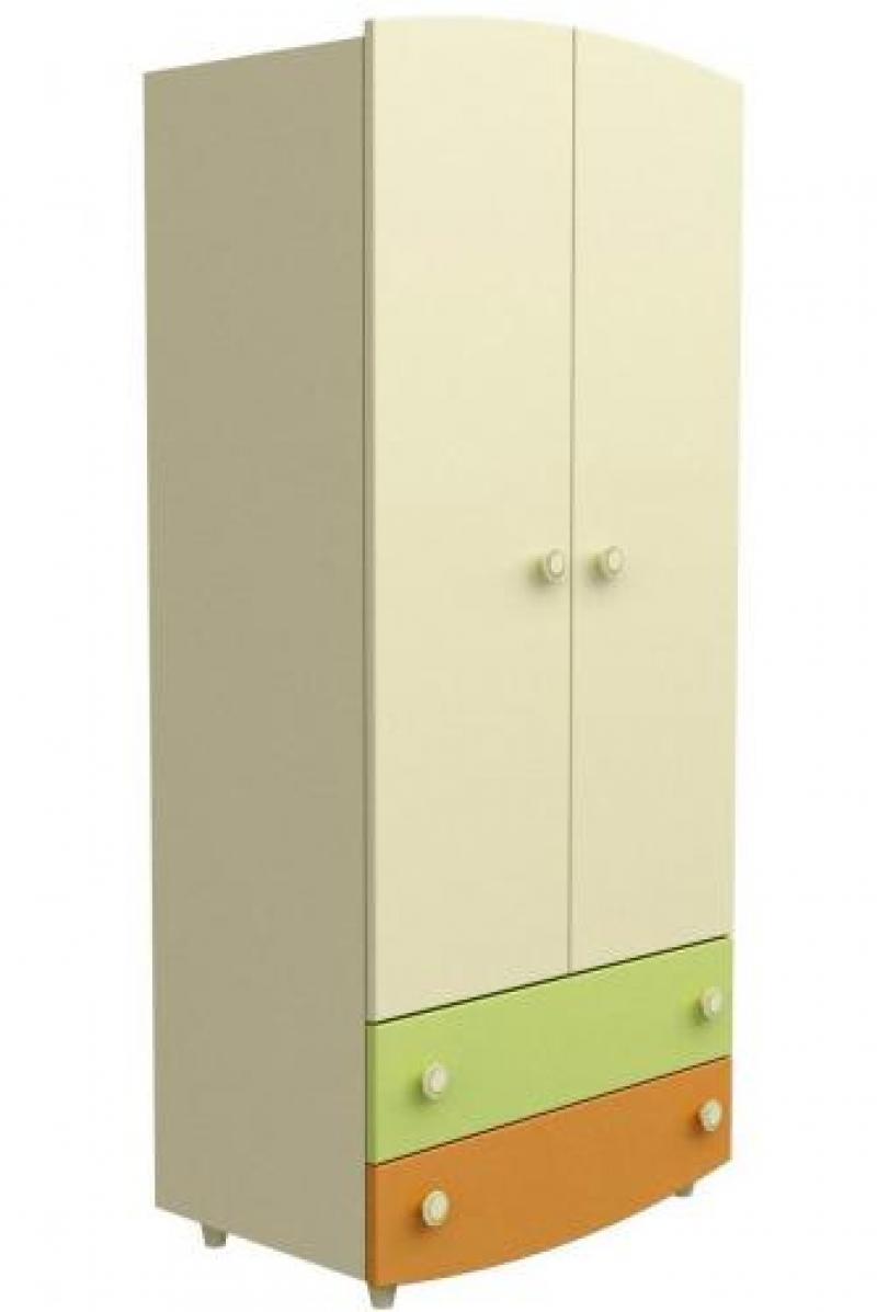 Шкаф №1 - слоновая кость+оранжевый+зелёный