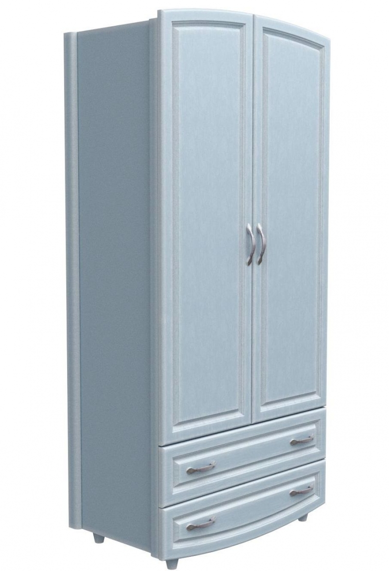 Шкаф №1 - МДФ патина голубая лазурь (фильончастый)