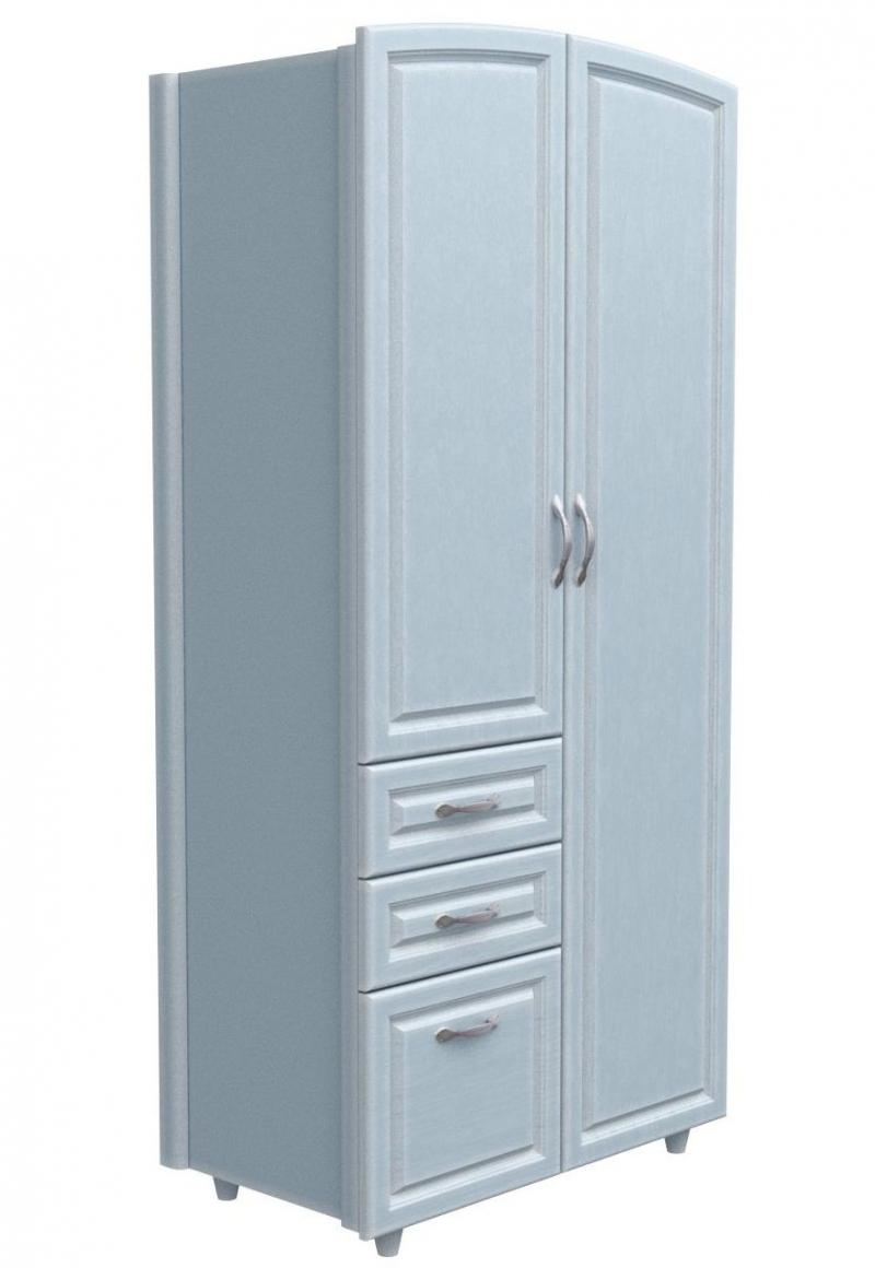 Шкаф №2 - патина голубая лазурь МДФ