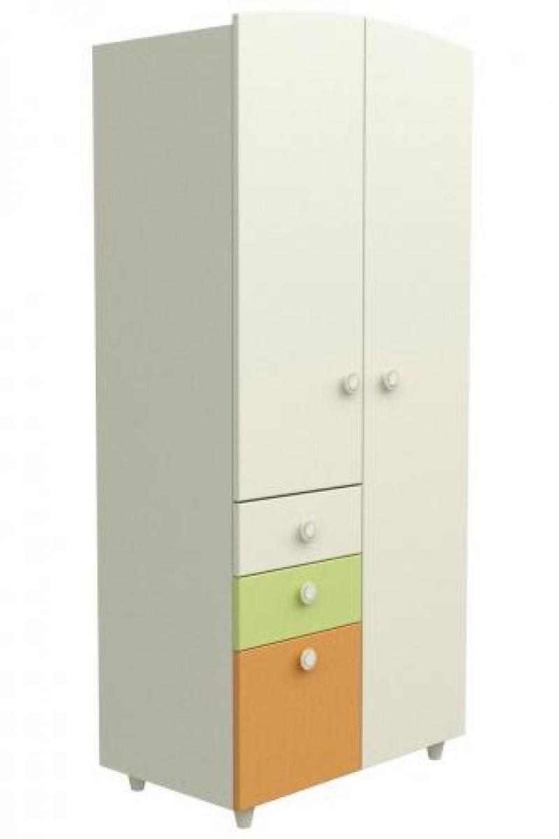 Шкаф №2 - слоновая кость+оранжевый+зелёный