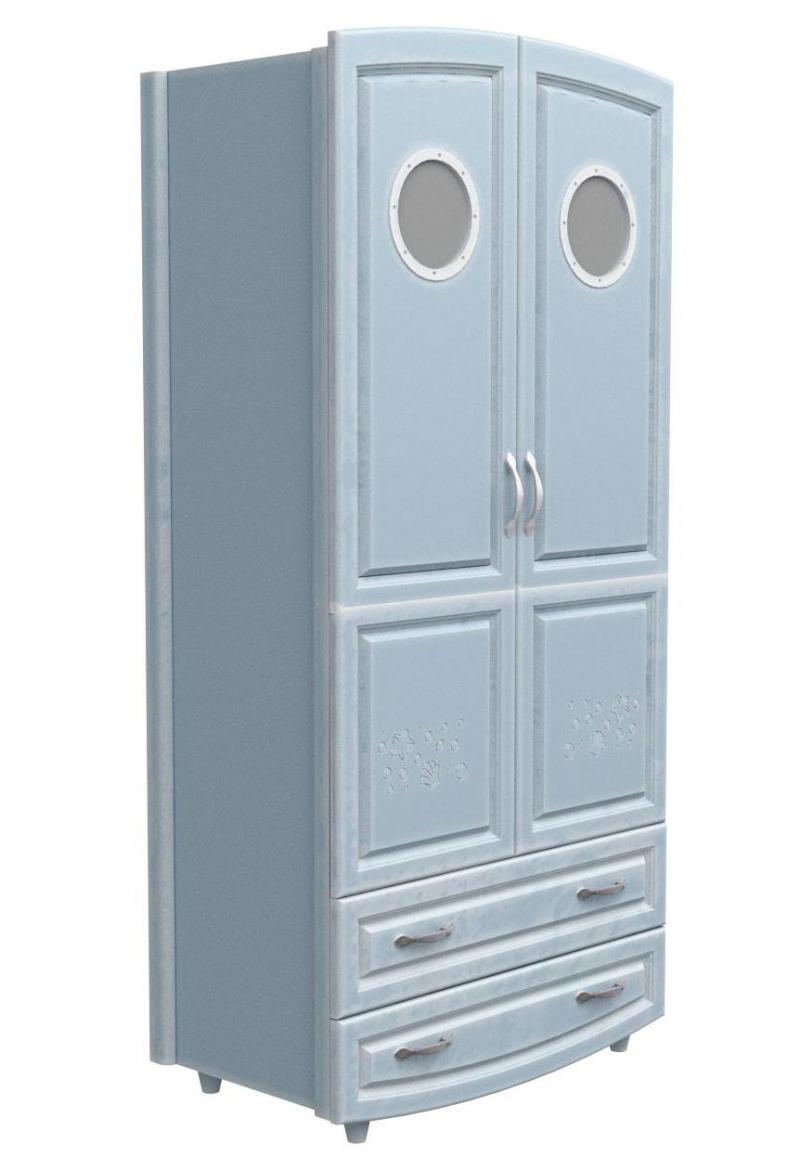 Шкаф №1 - МДФ патина морская лазурь (илюминатор)
