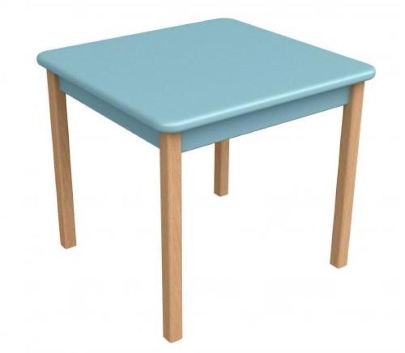 Столик дерево/пленка МДФ, голубой