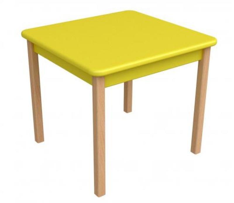 Столик дерево/пленка МДФ, желтый