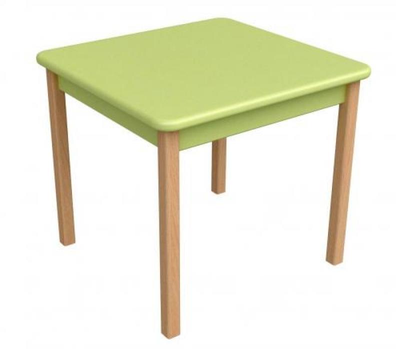 Столик дерево/пленка МДФ, зеленый