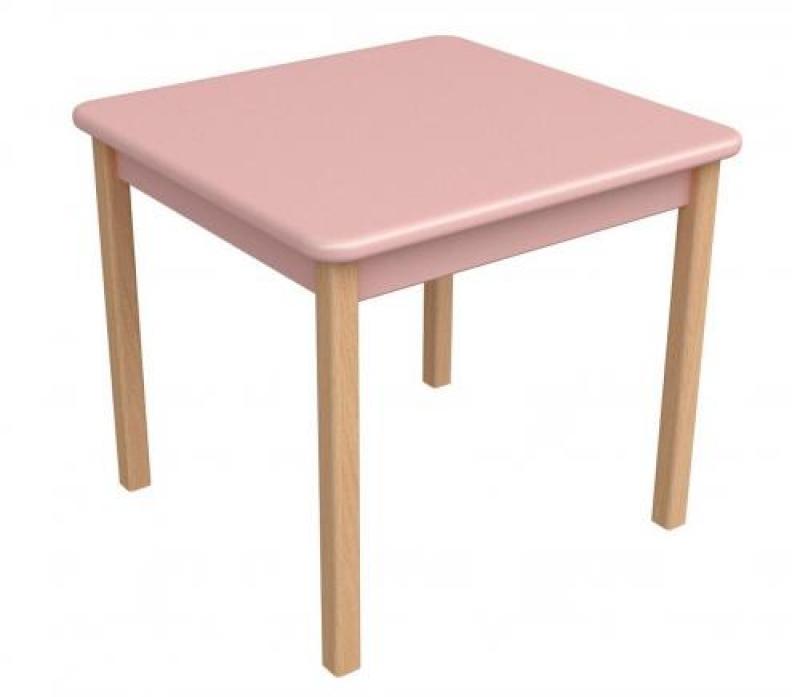 Столик дерево/пленка МДФ, розовый