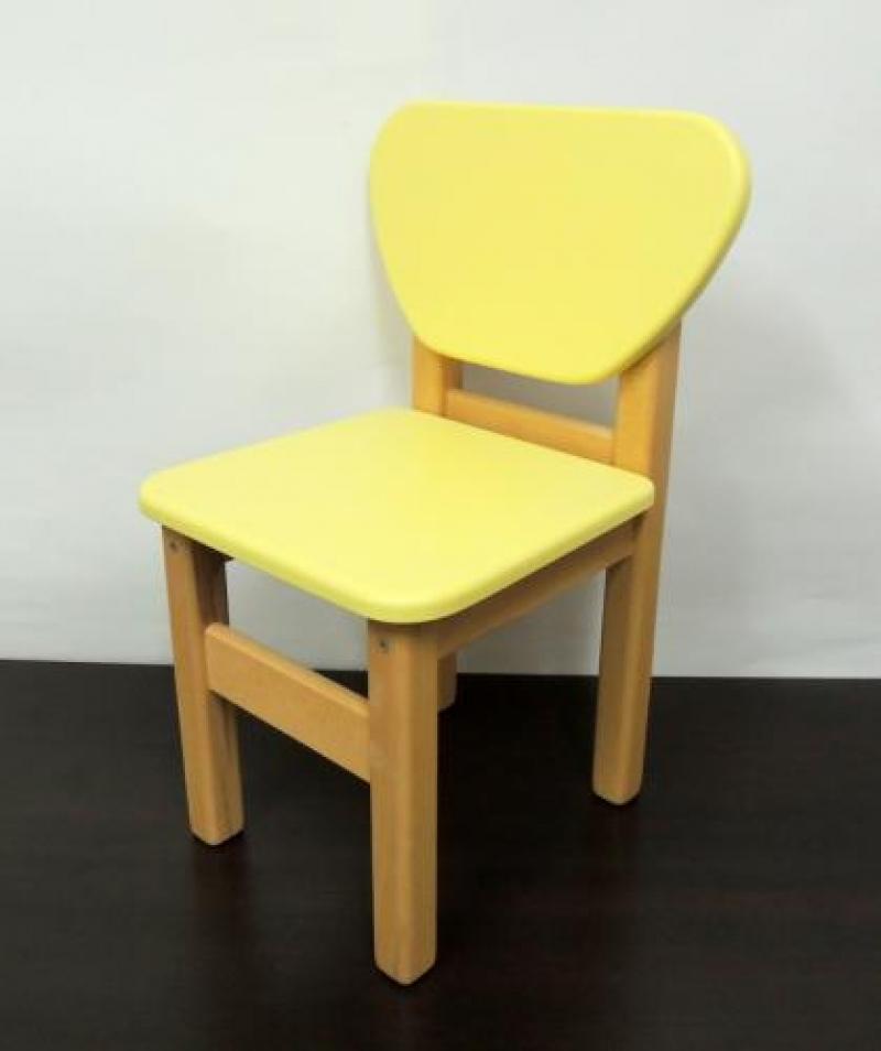 Стульчик дерево/пленка МДФ, желтый