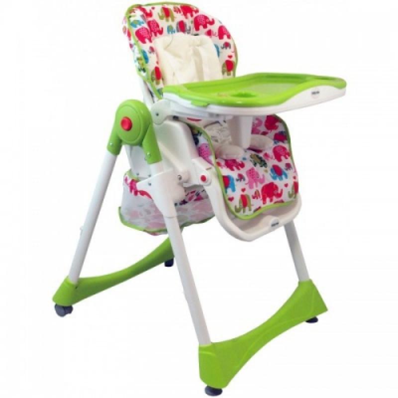 Стульчик для кормления Alexis-Babymix YB602A pink green