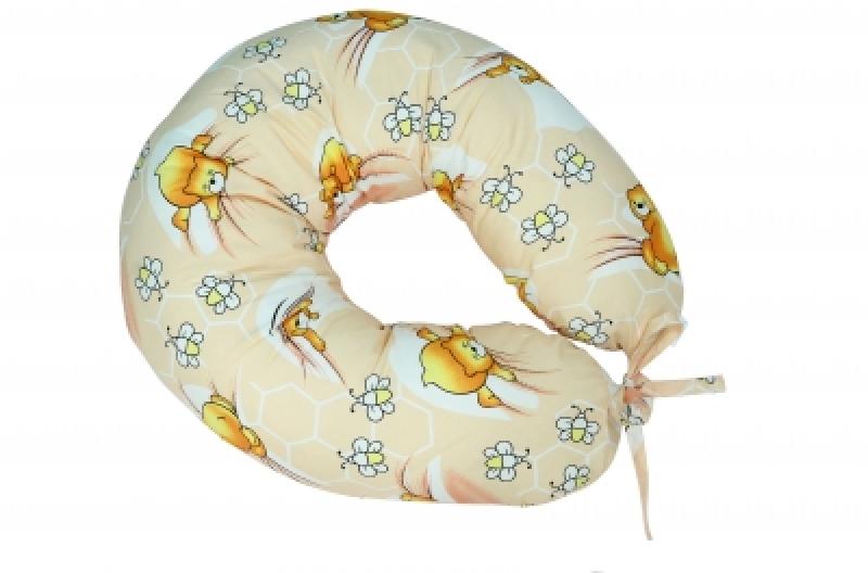 """Подушка для кормления Veres """"Soft beige"""" 165*70"""