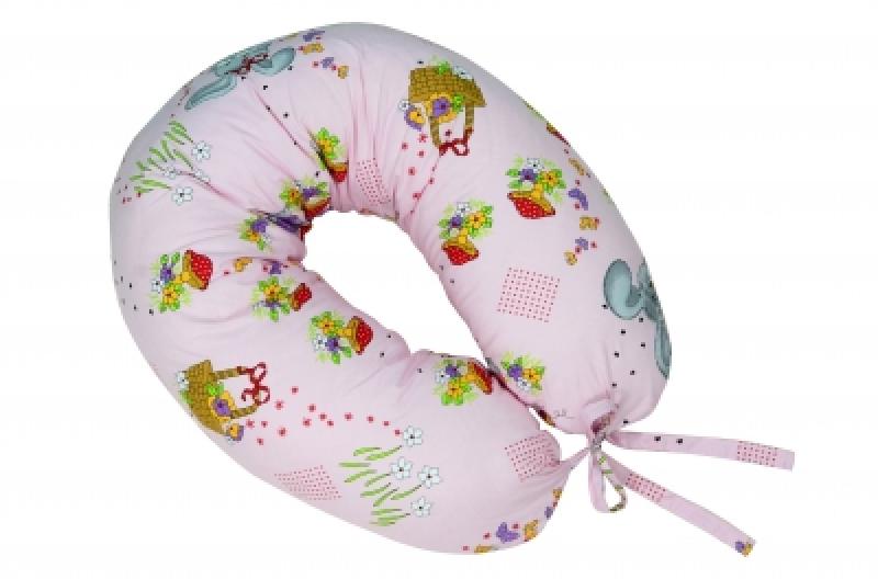 """Подушка для кормления Veres """"Soft pink"""" 165*70"""
