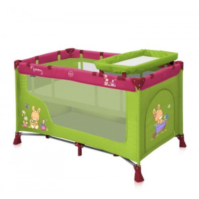 Манеж Bertoni NANNY 2L (green&pink bunnies)