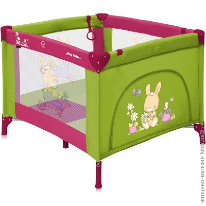 Манеж Bertoni PLAY STATION (green pink bunnies)