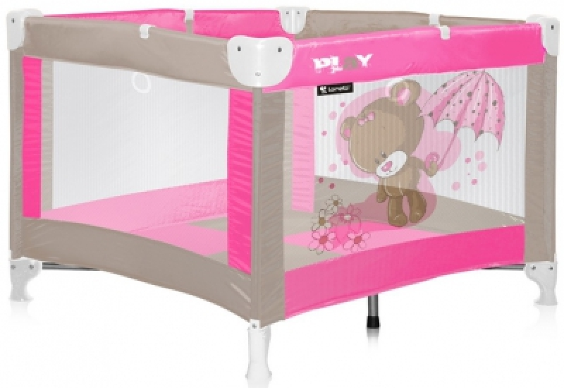 Манеж Bertoni PLAY (pink beige bear)