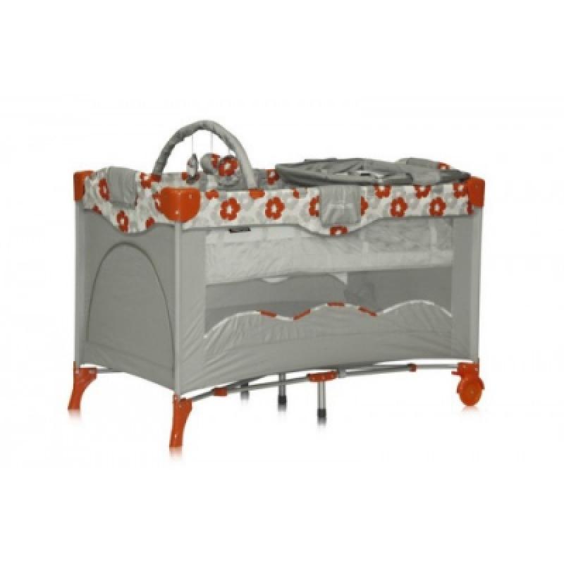 Манеж Bertoni TRAVEL KID 2L (orange frowers)