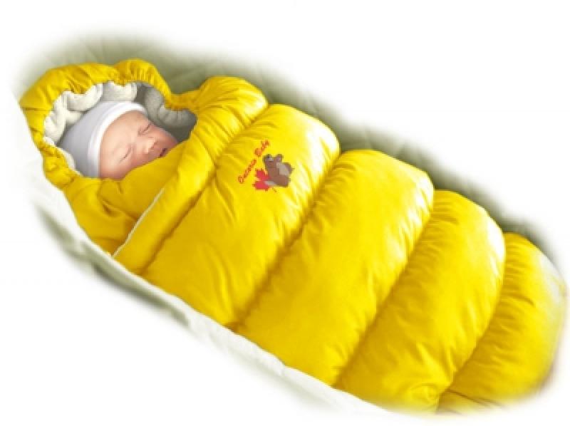 Конверт-пуховик Ontario BabyInflated Lux (дутик 50х90) желтый