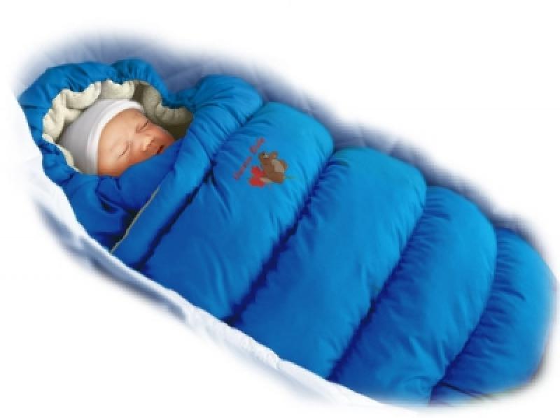Конверт-пуховик Ontario Baby Inflated LUX(дутик 50х90) СИНИЙ