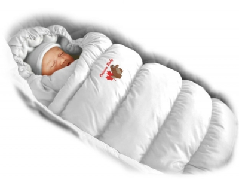 Конверт-пуховик Ontario Baby Inflated Lux (дутик 50х90) белый